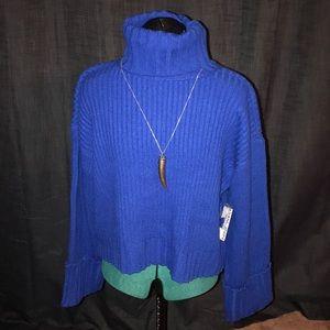 PetiteXL Nine West Cuff Sleeve Turtleneck Sweater